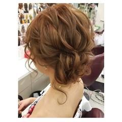 エレガント デート 結婚式 ヘアアレンジ ヘアスタイルや髪型の写真・画像