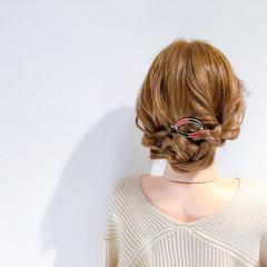 アウトドア 結婚式 フェミニン ヘアアレンジ ヘアスタイルや髪型の写真・画像