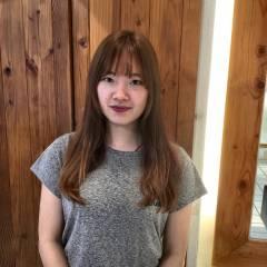 シースルーバング ゆるふわ 卵型 フェミニン ヘアスタイルや髪型の写真・画像
