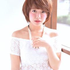 きれいめ 夏 ショート かわいい ヘアスタイルや髪型の写真・画像
