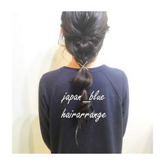 ゆるふわ 編み込み 夏 ポニーテール ヘアスタイルや髪型の写真・画像