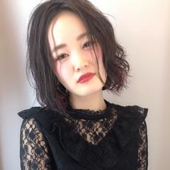 パーマ 透明感 エレガント 大人女子 ヘアスタイルや髪型の写真・画像