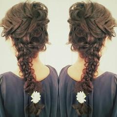 ロング ヘアアレンジ 外国人風 フェミニン ヘアスタイルや髪型の写真・画像