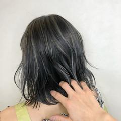 ストリート ホワイトハイライト 3Dハイライト ボブ ヘアスタイルや髪型の写真・画像