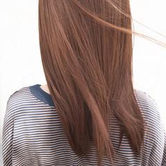 ナチュラル TOKIOトリートメント オレンジベージュ ブラウンベージュ ヘアスタイルや髪型の写真・画像