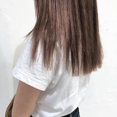 女子力 セミロング ハイライト ナチュラル ヘアスタイルや髪型の写真・画像