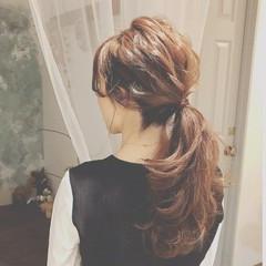 ロング 冬 デート ヘアアレンジ ヘアスタイルや髪型の写真・画像