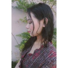 アンニュイ ロング フェミニン デート ヘアスタイルや髪型の写真・画像