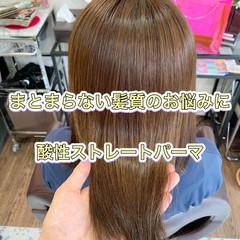 髪質改善トリートメント ミディアム ナチュラル 髪質改善 ヘアスタイルや髪型の写真・画像