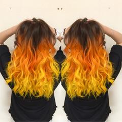夏 個性的 ストリート ヘアアレンジ ヘアスタイルや髪型の写真・画像