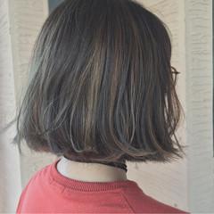 ハイライト 秋 外国人風 ボブ ヘアスタイルや髪型の写真・画像