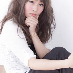ガーリー アッシュ 前髪あり 外国人風 ヘアスタイルや髪型の写真・画像