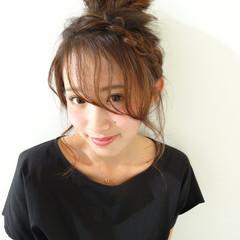 グラデーションカラー ゆるふわ ハーフアップ 外国人風 ヘアスタイルや髪型の写真・画像