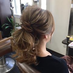 ポニーテール 結婚式 上品 デート ヘアスタイルや髪型の写真・画像