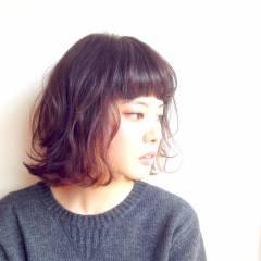 逆三角形 ボブ 卵型 丸顔 ヘアスタイルや髪型の写真・画像