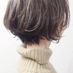 ショート 成人式 アンニュイほつれヘア 3Dハイライト ヘアスタイルや髪型の写真・画像