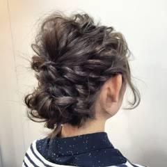 コンサバ ルーズ アップスタイル 簡単ヘアアレンジ ヘアスタイルや髪型の写真・画像
