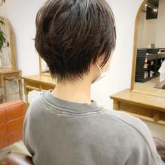 縮毛矯正 暗髪 ゆるふわ オフィス ヘアスタイルや髪型の写真・画像