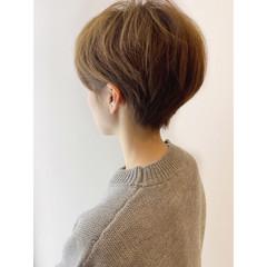ショートヘア 大人かわいい ショートボブ ナチュラル ヘアスタイルや髪型の写真・画像