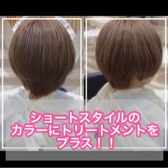 ナチュラル 髪質改善カラー ミニボブ ショートボブ ヘアスタイルや髪型の写真・画像