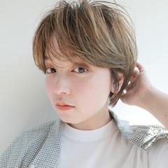 アンニュイほつれヘア ショート ベリーショート 小顔ショート ヘアスタイルや髪型の写真・画像