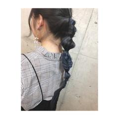 透明感 ロング ハイライト フェミニン ヘアスタイルや髪型の写真・画像