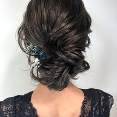 外国人風カラー アンニュイほつれヘア ハイライト ヘアアレンジ ヘアスタイルや髪型の写真・画像