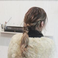 ロング ヘアアレンジ 波ウェーブ 外国人風 ヘアスタイルや髪型の写真・画像