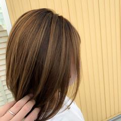 大人ハイライト デート ミディアム 3Dハイライト ヘアスタイルや髪型の写真・画像