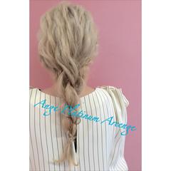 金髪 ヘアアレンジ ロング 外国人風 ヘアスタイルや髪型の写真・画像
