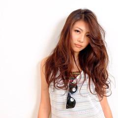 渋谷系 大人かわいい ストリート ロング ヘアスタイルや髪型の写真・画像