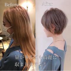 ショートヘア ナチュラル ベリーショート ウルフカット ヘアスタイルや髪型の写真・画像