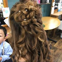 結婚式 ロング デート エレガント ヘアスタイルや髪型の写真・画像