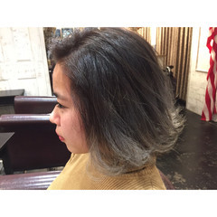 グラデーションカラー 外国人風 ストリート ストレート ヘアスタイルや髪型の写真・画像