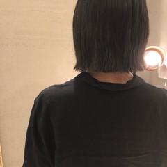 モード ボブ 切りっぱなしボブ おしゃれ ヘアスタイルや髪型の写真・画像