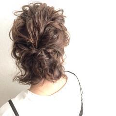 色気 ボブ ヘアアレンジ ハーフアップ ヘアスタイルや髪型の写真・画像