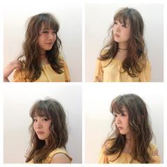 ガーリー 冬 デート セミロング ヘアスタイルや髪型の写真・画像