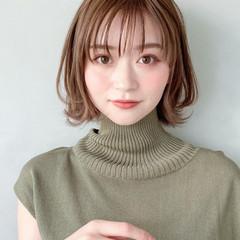 セミロング デート デジタルパーマ アンニュイほつれヘア ヘアスタイルや髪型の写真・画像