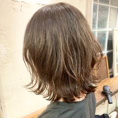 ナチュラル ボブ ワンカールパーマ ボブウルフ ヘアスタイルや髪型の写真・画像