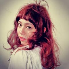 ガーリー ウェーブ モード セミロング ヘアスタイルや髪型の写真・画像