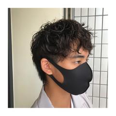 メンズパーマ メンズショート メンズヘア メンズカット ヘアスタイルや髪型の写真・画像