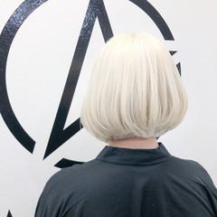 ブリーチ モード ボブ ブリーチカラー ヘアスタイルや髪型の写真・画像