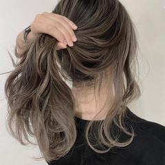 簡単ヘアアレンジ 外国人風カラー ロング ミルクティーベージュ ヘアスタイルや髪型の写真・画像