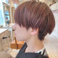 ショートヘア ベリーショート ショート ピンクベージュ ヘアスタイルや髪型の写真・画像