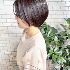 ショートボブ 大人かわいい ショートヘア オフィス ヘアスタイルや髪型の写真・画像
