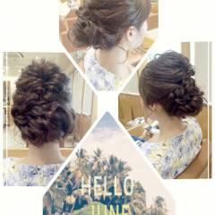 ヘアアレンジ 外国人風カラー 大人かわいい 結婚式 ヘアスタイルや髪型の写真・画像