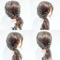 フェミニン デート 簡単ヘアアレンジ ルーズ ヘアスタイルや髪型の写真・画像