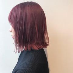 透明感カラー ピンクアッシュ ブリーチ無し ボブ ヘアスタイルや髪型の写真・画像