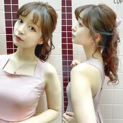 セルフヘアアレンジ ヘアアレンジ 簡単ヘアアレンジ ロング ヘアスタイルや髪型の写真・画像