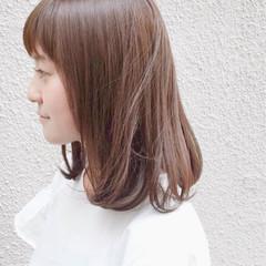 艶髪 ミディアム ナチュラル 透明感 ヘアスタイルや髪型の写真・画像